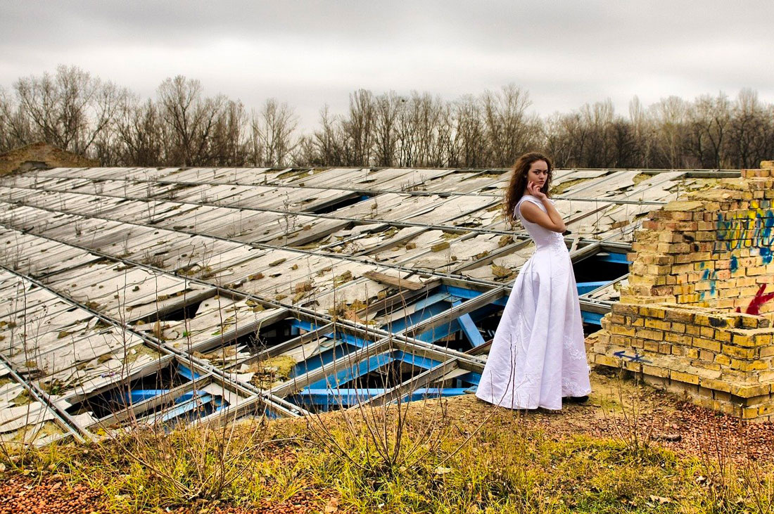 Photographie trash the dress